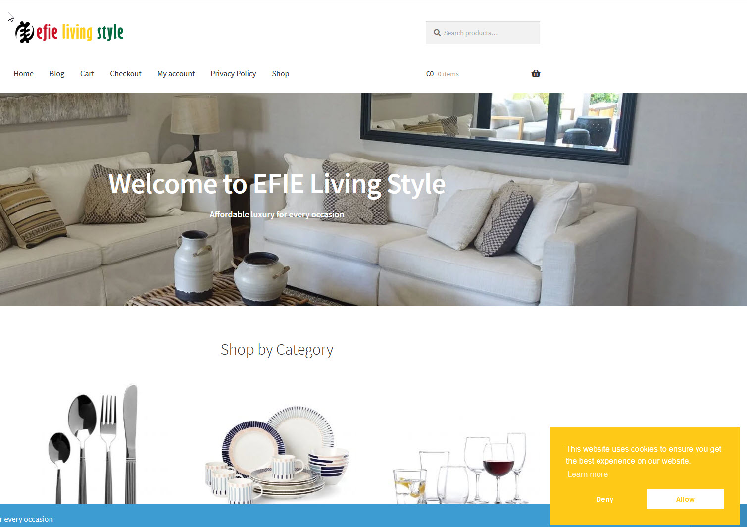 WebWab - EFIE LIVING STYLE - affordable luxury for every occasion